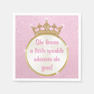 Pink and Gold Princess Party Napkins Paper Napkin