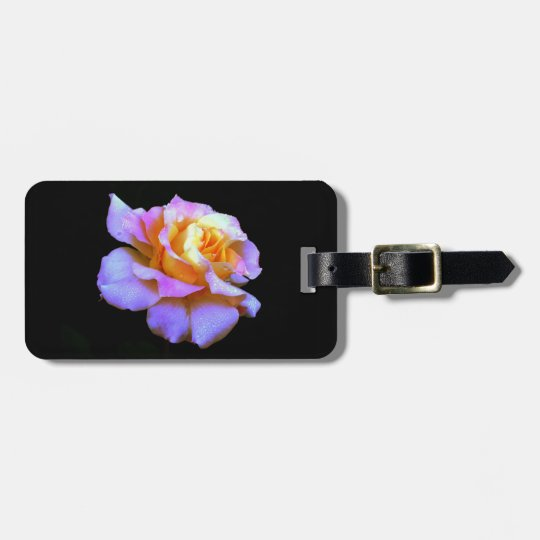 Pink And Gold Rose Luggage Tag