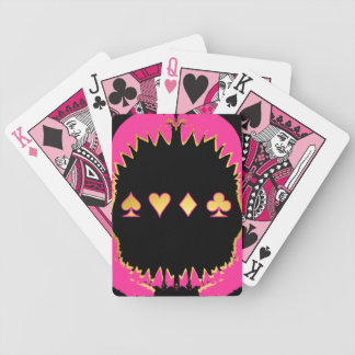Pink and Gold Shark Poker Cards
