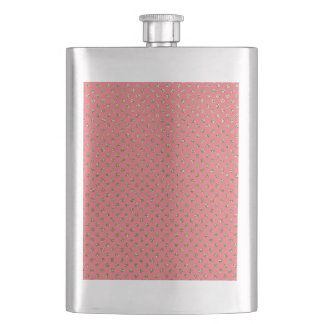Pink and Gold Sparkle Flask
