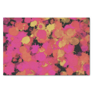 Pink and Gold Spatters Tissue Paper