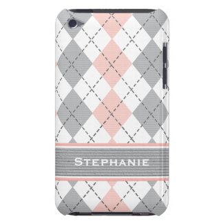 Pink and Gray Argyle iPod Touch 4g Case Cover
