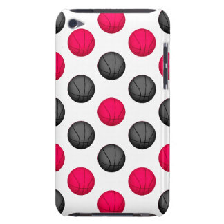 Pink and Gray Basketball Pattern Barely There iPod Covers