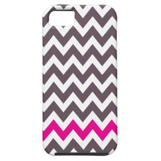 Pink and gray chevron iPhone 5 covers