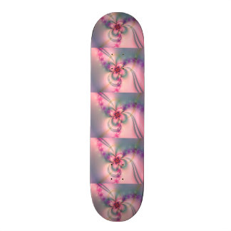 Pink And Gray Flower Skateboards