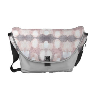 Pink And Gray Glitter Looking Pattern Courier Bag