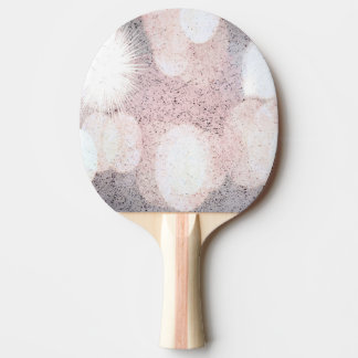 Pink And Gray Glitter Looking Pattern Ping Pong Paddle