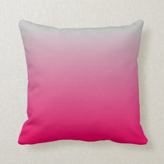 Pink and Gray Gradient Throw Pillow