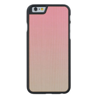 Pink And Gray Maple Wood Carved® Maple iPhone 6 Case