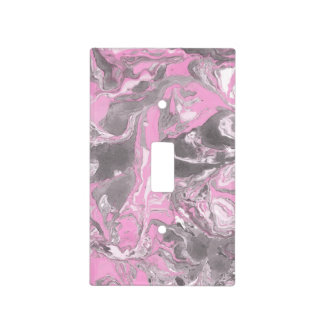 Pink and gray Marble Light Switch Cover