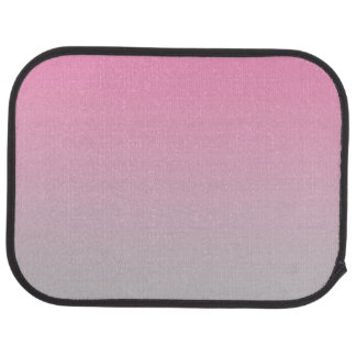 """Pink And Gray Ombre"" Car Carpet"