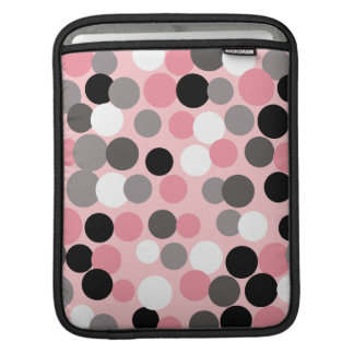 Pink and Gray Polka Dot iPad Sleeve