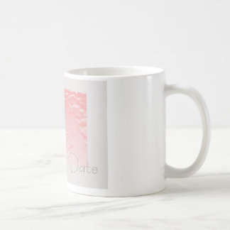 Pink and Gray Rose Save the Date Coffee Mugs