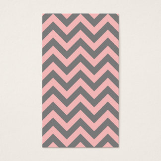 Pink and Gray Zigzag Business Card