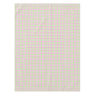 Pink and green abstract circles pattern tablecloth