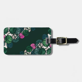 Pink and green bubbles luggage tag