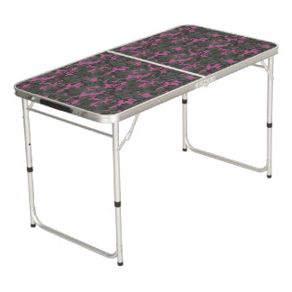 Pink and Green Camo Beer Pong Table