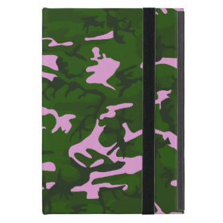Pink and Green Camo Cover For iPad Mini
