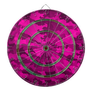 Pink and Green Camo Dartboard