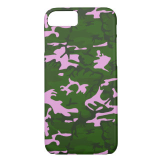 Pink and Green Camo iPhone 8/7 Case