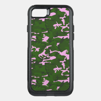 Pink and Green Camo OtterBox Commuter iPhone 8/7 Case