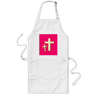 Pink and Green Cross Design Apron
