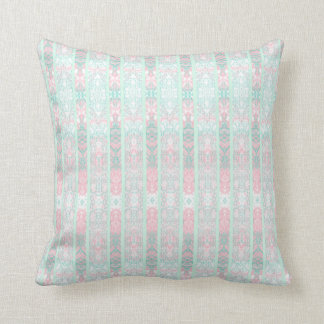 pink and green cushion