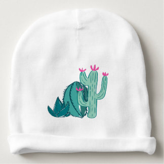 Pink and Green Cute Cactus Baby Beanie