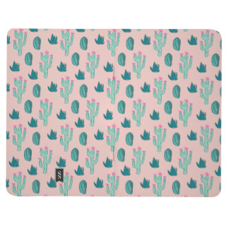 Pink and Green Cute Cactus Pattern Journal