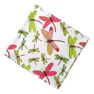 Pink and Green Dragonflies Bandana