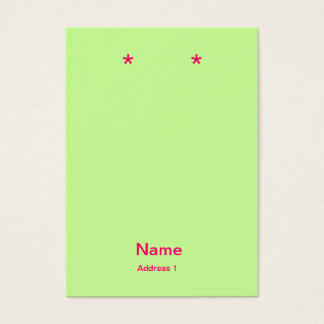 pink and green earring cards