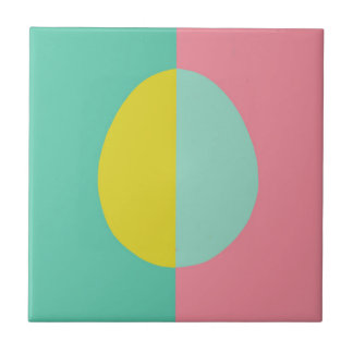 Pink and Green Egg Tile