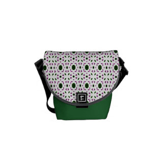 Pink and Green Floral Messenger Bags