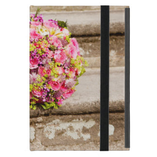 Pink and Green Floral Wedding Bouquet Case For iPad Mini