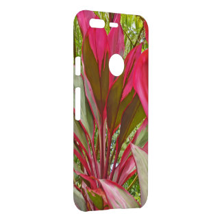 PINK AND GREEN  HAWAIIAN TI PLANT UNCOMMON GOOGLE PIXEL CASE