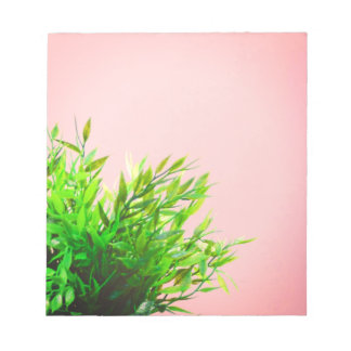 Pink and Green House Plant Nature Gardening Notepads