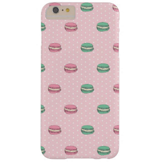Pink and Green macaroons and polkadot Barely There iPhone 6 Plus Case