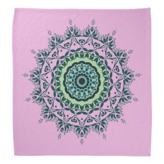 Pink and Green Mandala Bandana