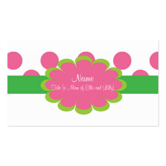 Pink and Green Mommy Business Card