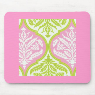 Pink and Green Mouse Pad