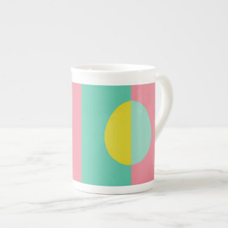 Pink and Green Oval Tea Cup
