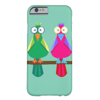 Pink and green Parrots Barely There iPhone 6 Case