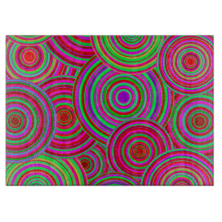Pink and Green Retro Circles Pattern Boards