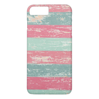 Pink and Green Rustic Wooden Fence Grunge Texture iPhone 7 Plus Case