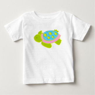 Pink and Green Sea Turtle Cotton T Shirt