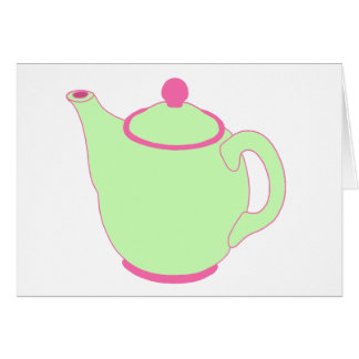 Pink and Green Teapot Cards