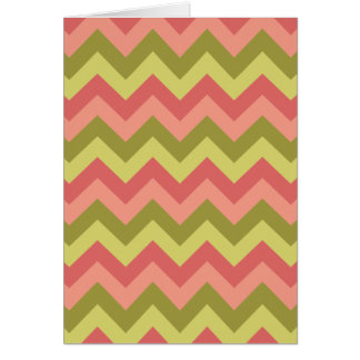 Pink and Green Zig Zag Card