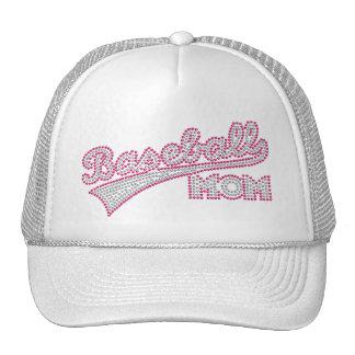 Pink And Grey Baseball Mom Hat