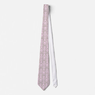 Pink and Grey Damask Tie