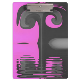 Pink And Grey Gnarl Clipboard